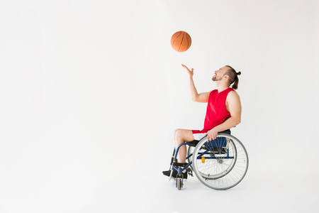Disabled sportsman playing basketball Stock fotó