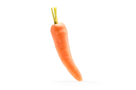 single fresh ripe healthy carrot isolated on white