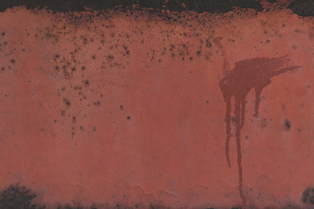 close-up view of old brown wall with stains Banco de Imagens