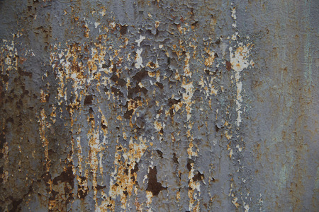 old scratched metallic surface with rust 写真素材