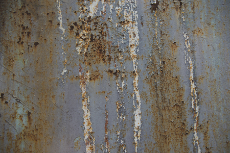 close-up view of scratched rusty metallic surface 写真素材