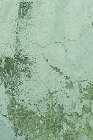 close-up green weathered concrete wall texture Stock Photo