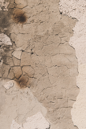 old cracked weathered wall textured background   Banco de Imagens