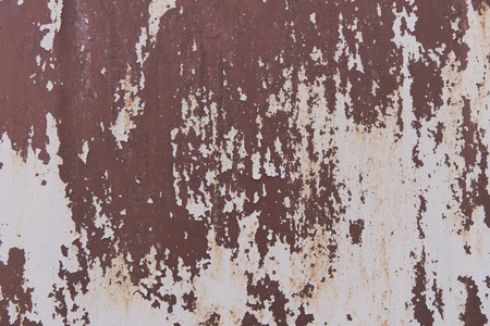 close-up view of scratched rusty metallic texture