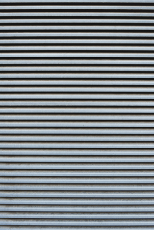 full frame of striped corrugated metal sheet texture