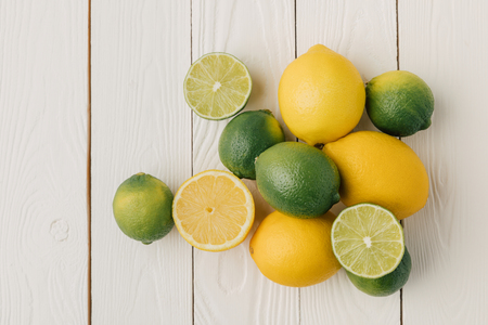 Juicy sour citruses on white background 写真素材