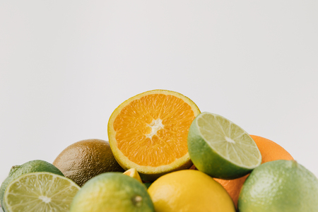 Raw citruses isolated on background 写真素材 - 99547499