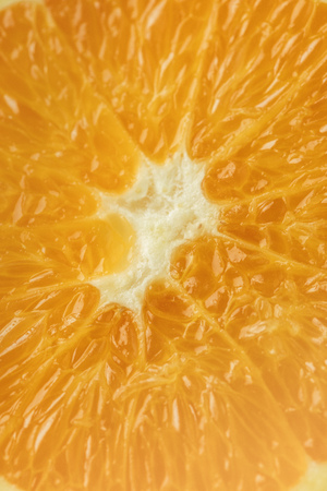 ripe orange fruit flesh