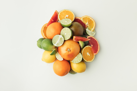 Pile of citrus fruits 写真素材