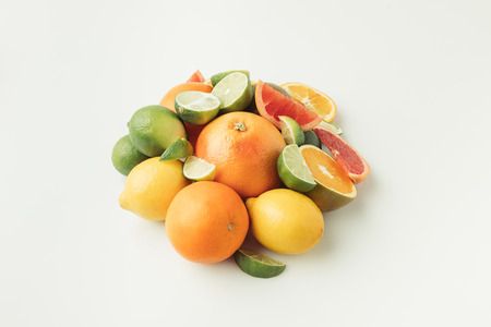 Heap of citrus fruits
