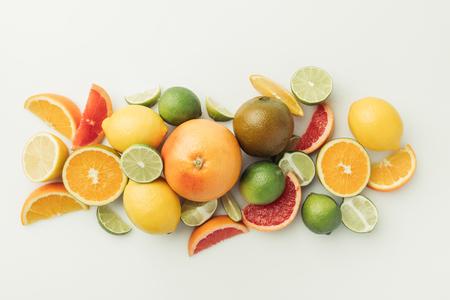 Assorted raw citruses Imagens