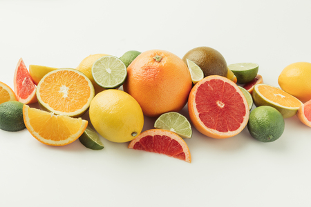 Ripe raw citruses