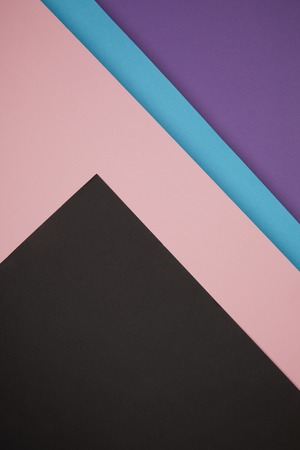 colorful geometric background made from colored paper Stock Photo