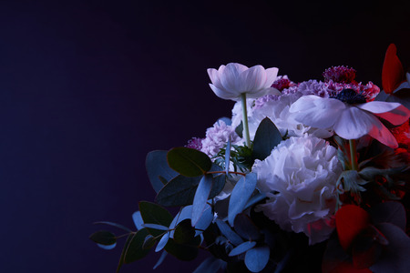 bouquet of beautiful different flowers Stock Photo
