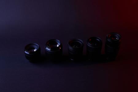 different camera lenses