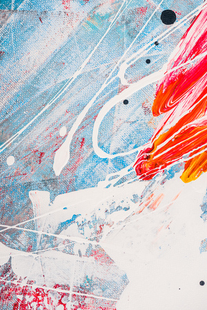 splatters of oil paint on abstract colorful background
