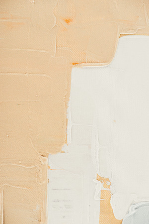 beige brush strokes on abstract oil painting Stock Photo