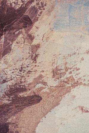 brown brush strokes on beige oil painting