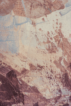 close up of brown brush strokes on oil painting
