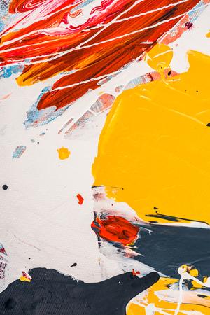 abstracte veelkleurige textuur met artistieke splatters Stockfoto