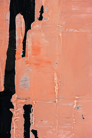 orange background with oil paint brush strokes