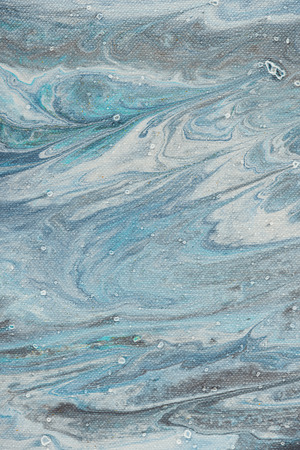 abstract background with light blue acrylic paint