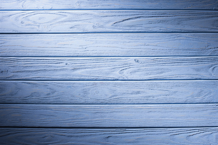 Wooden planks painted in cyan background Stock Photo