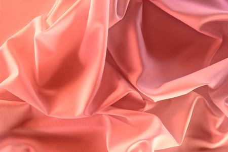 close up view of elegant pink silky fabric as background 스톡 콘텐츠 - 101353680