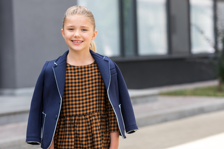 Young Little School Girl