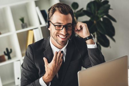 handsome smiling technical support worker Reklamní fotografie