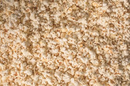 top view of tasty popcorn texture