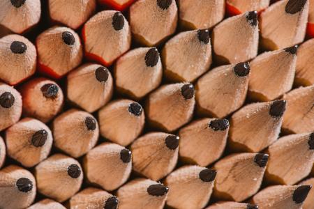 full frame image of pile of graphite pencils background Reklamní fotografie
