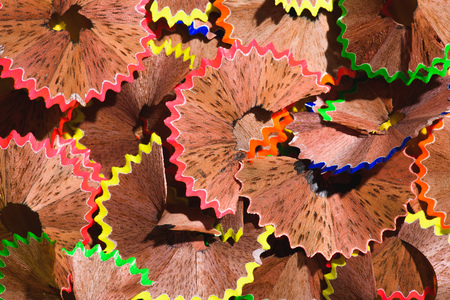 full frame image of colorful pencil shavings background Stock Photo - 104571334