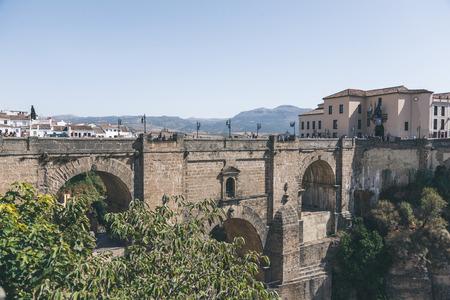 scenic view of Puente Nuevo bridge in Ronda, spain
