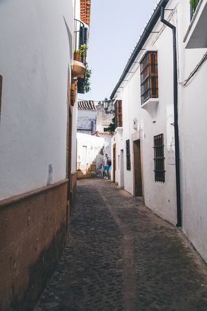 scenic view of narrow street in spain