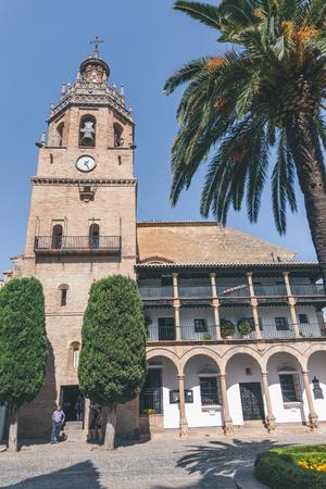 view of church Iglesia de Santa Maria la Mayor, Ronda, spain