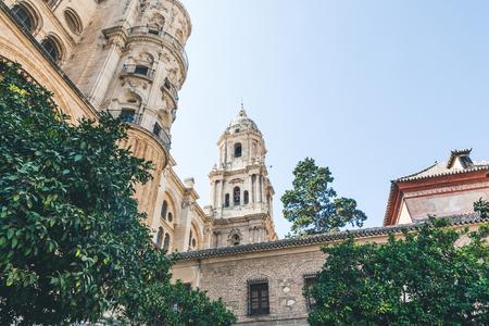 low angle view of catedral de malaga, malaga, spain