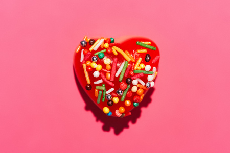 top view of gummy candies 스톡 콘텐츠