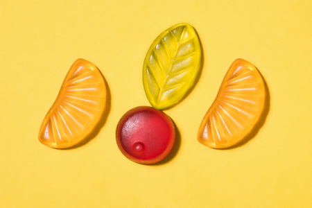 top view of gummy candies Stock Photo