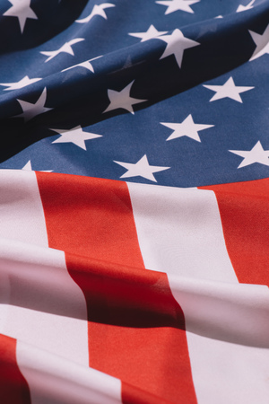 close up view of folded american flag background Banco de Imagens - 105675424
