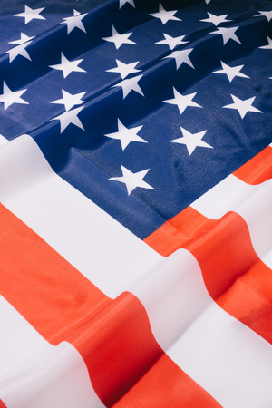 close up view of folded american flag background Banco de Imagens - 105675650