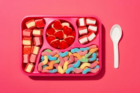 top view of gummy candies Reklamní fotografie