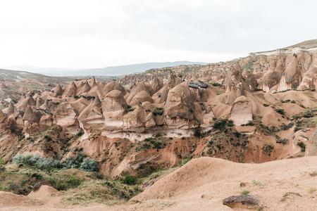 beautiful landscape with majestic rock formations in cappadocia, turkey 版權商用圖片 - 105704636