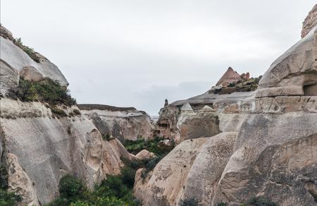 majestic view at bizarre rock formations in cappadocia, turkey 版權商用圖片 - 105704757