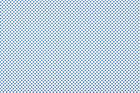 Blue polka dot pattern on white background