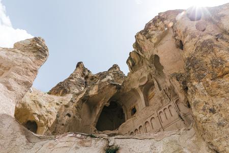 famous cave church in goreme national park, cappadocia, turkey