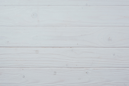 top view of white wooden planks surface for background