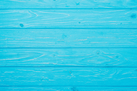 top view of bright blue wooden planks surface for background Reklamní fotografie - 105705746