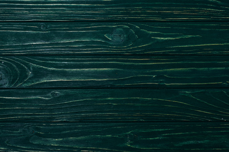top view of green wooden planks surface for background