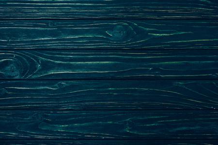 top view of dark blue wooden planks surface for background Reklamní fotografie